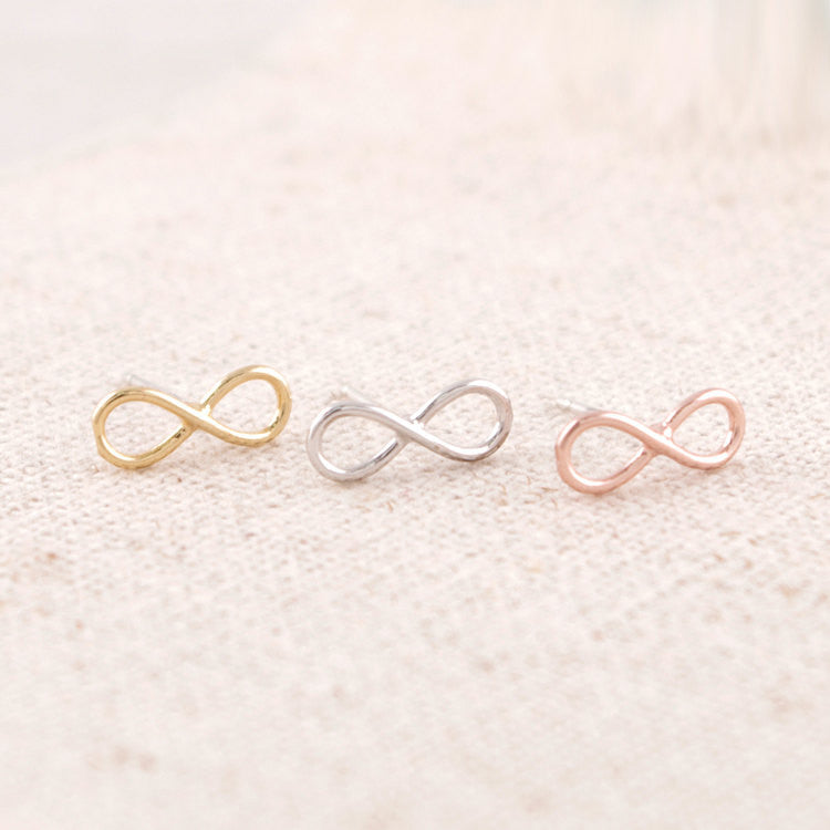 Tiny 8Infinity Stud Earrings