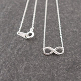 Sterling Silver Tiny Infinity Necklace