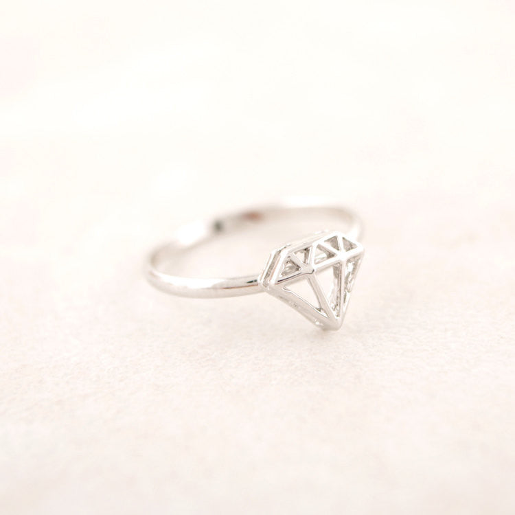 Diamond Shaped Adjustable Ring