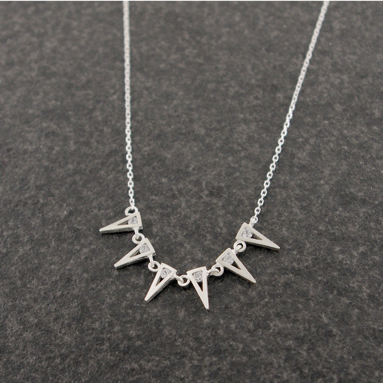 Sterling Silver Triangle Garlands Necklace