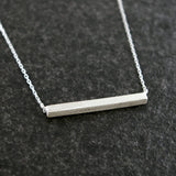 Sterling Silver Square Bar Necklace