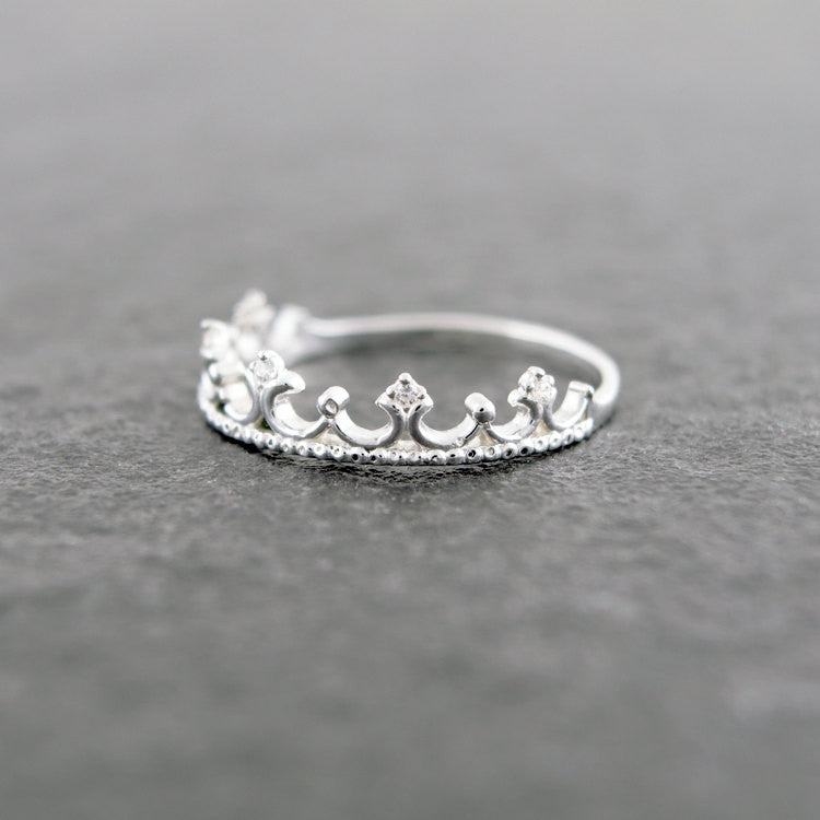 Sterling Silver Tiara Ring
