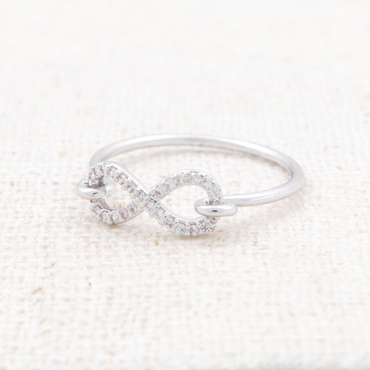 CZ Infinity Loop Ring