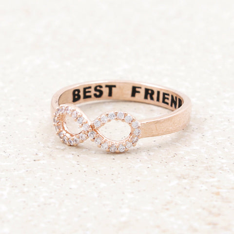 CZ Infinity Best Friends Ring