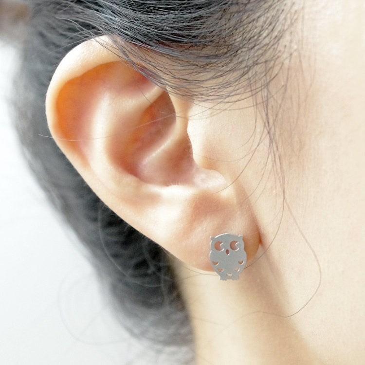 Night Owl Stud Earrings