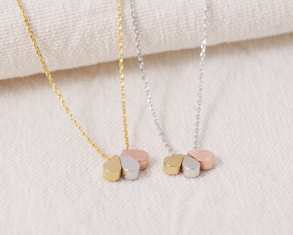 Triple Teardrops Necklace