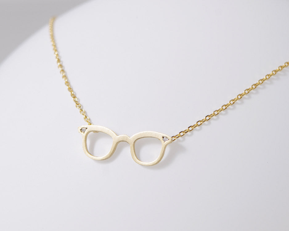 CZ Glasses Necklace