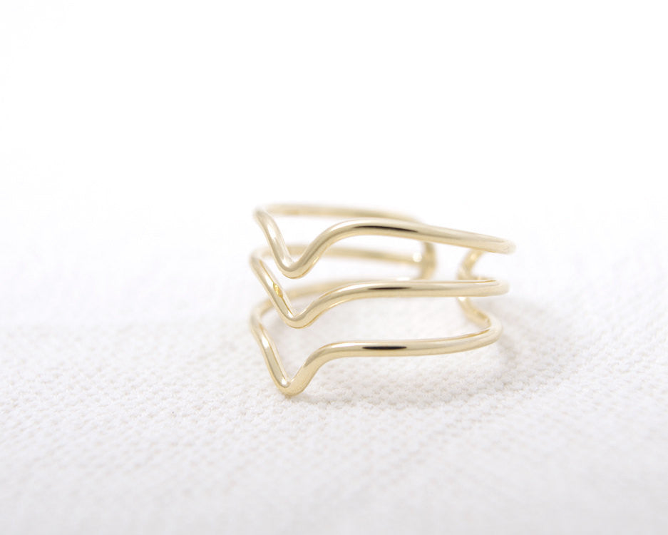 Three Chevron ring