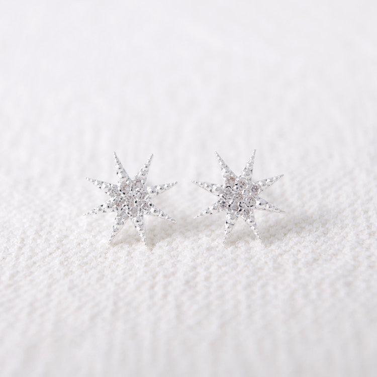 CZ Shiny Star Stud Earrings