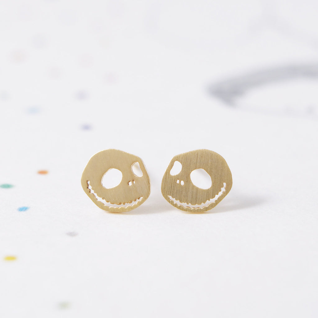 Nightmare Skull Stud Earrings