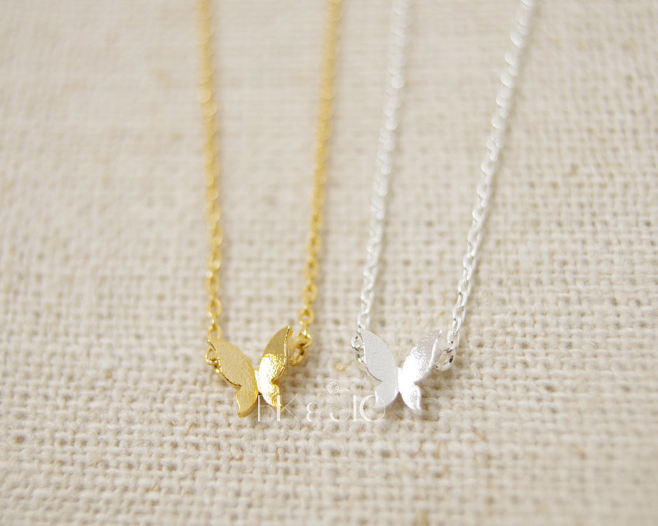 Tiny Butterfly Necklace