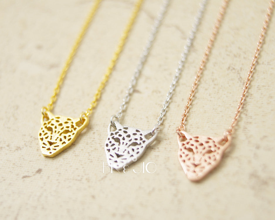 Leopard Face  Necklace
