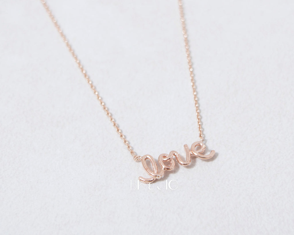 Wire Love Letter Necklace