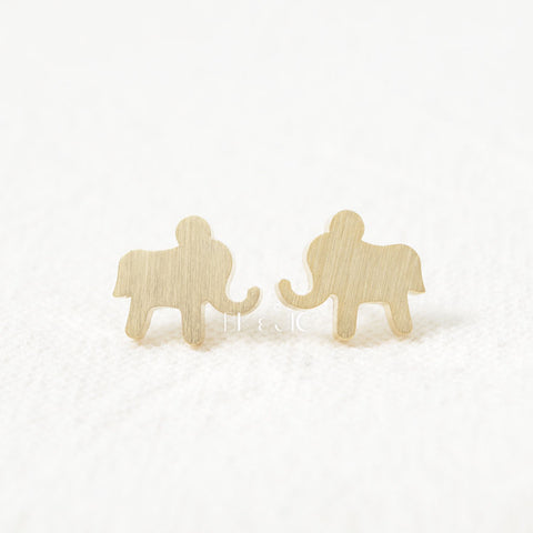 Elephant Shaped Stud Earrings