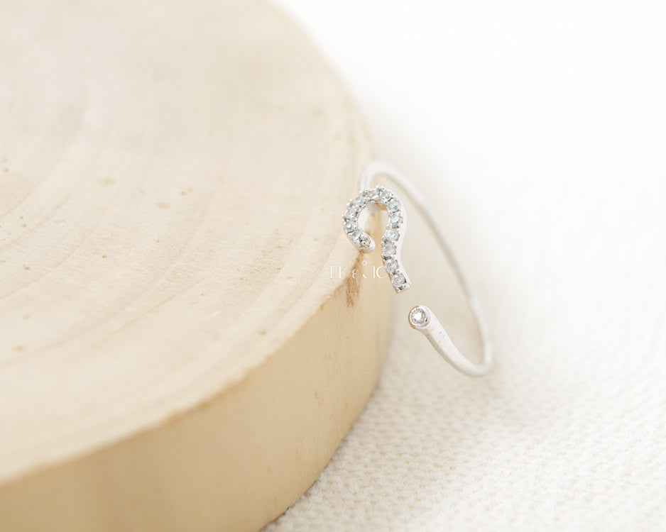 CZ Question Mark Ring