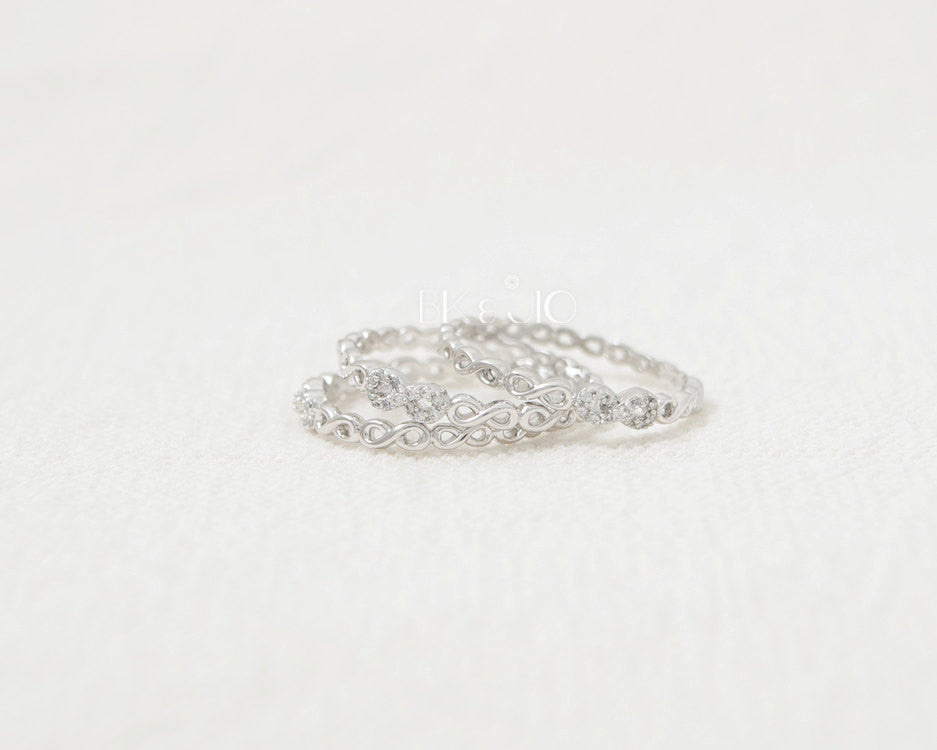 Linked CZ Infinity Ring