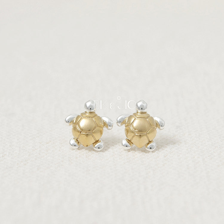 Galapagos Turtle Stud Earrings
