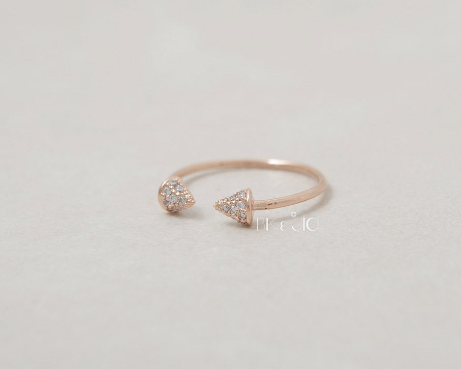 CZ Spike Ring