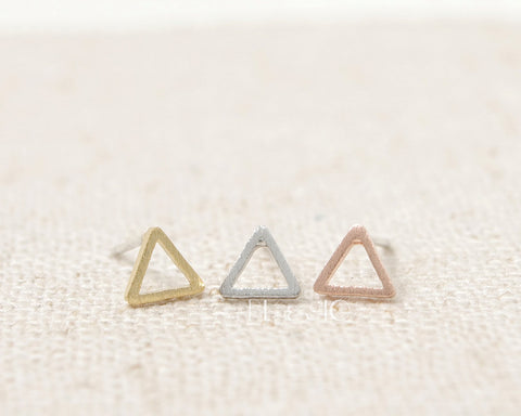 Tiny Triangle Studs Earrings