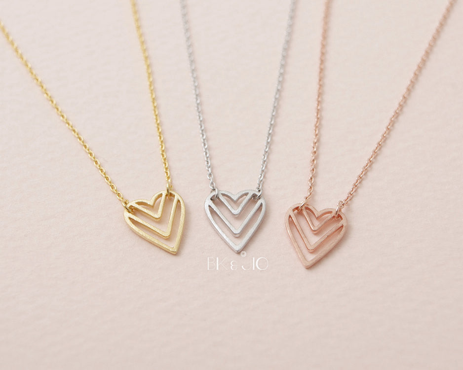 V Heart Necklace