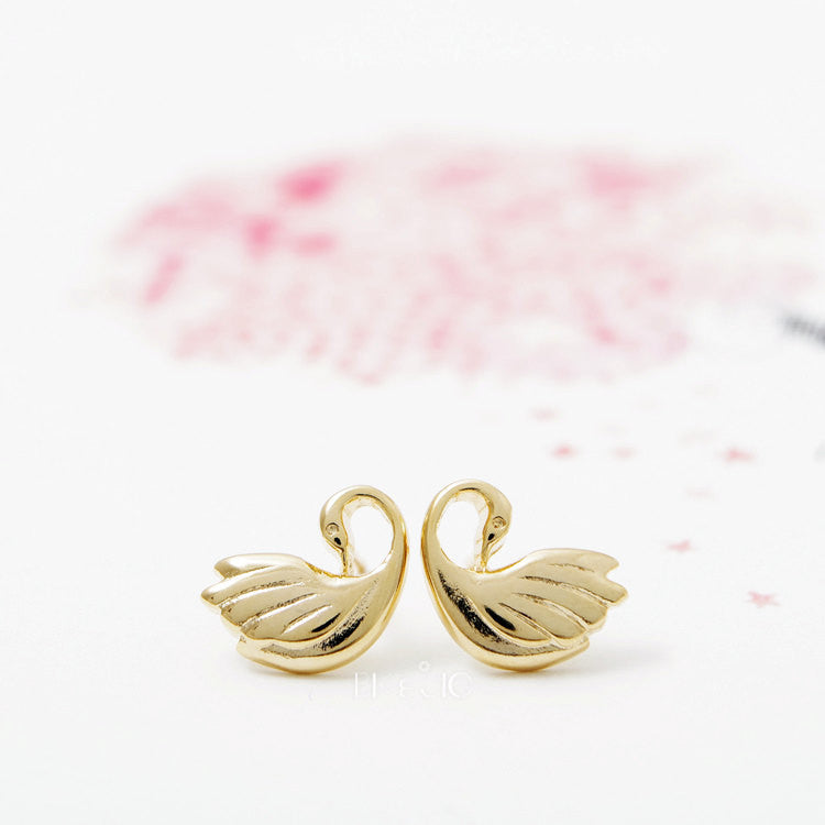 Swan Stud Earrings