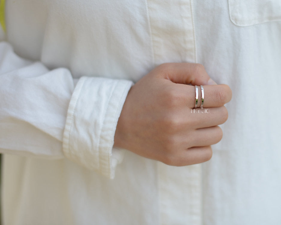 Two Line Band Ring