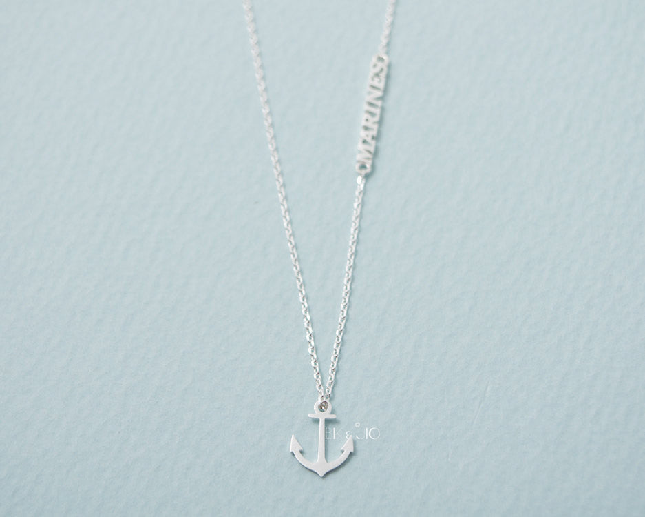 Marines Anchor Necklace