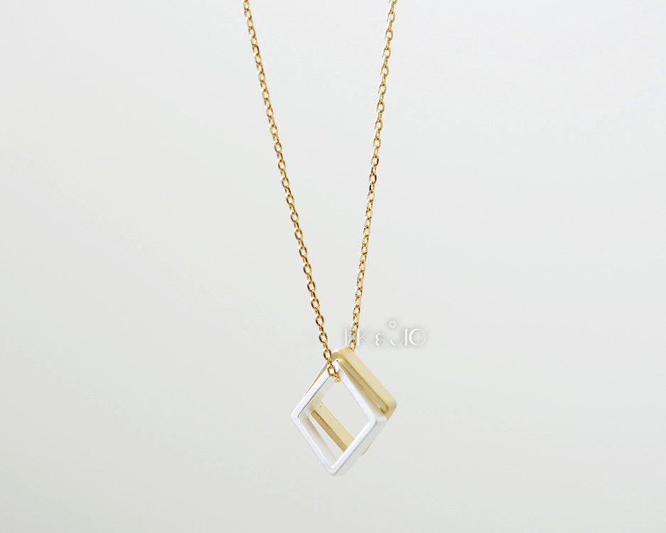 Double Squares Necklace