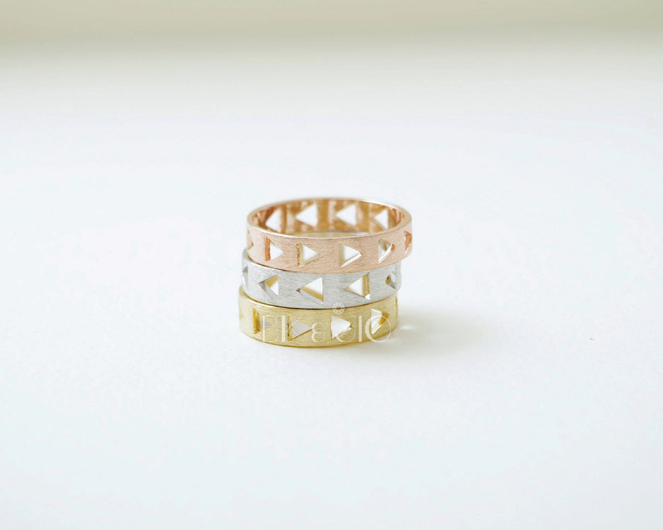 Triangled Stack Ring