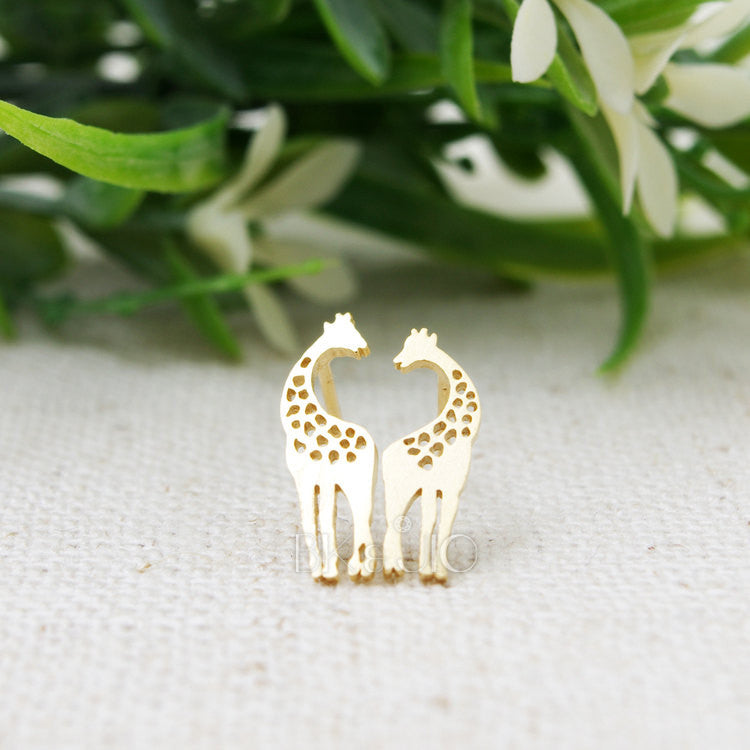Loving Giraffes Stud Earrings
