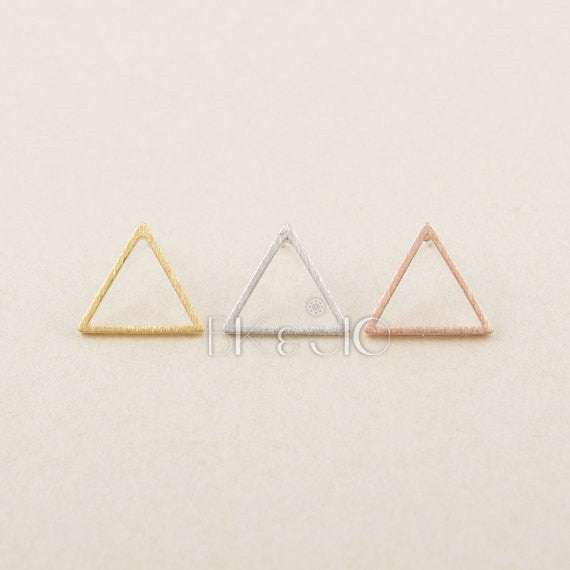 Open Triangle Studs Earrings