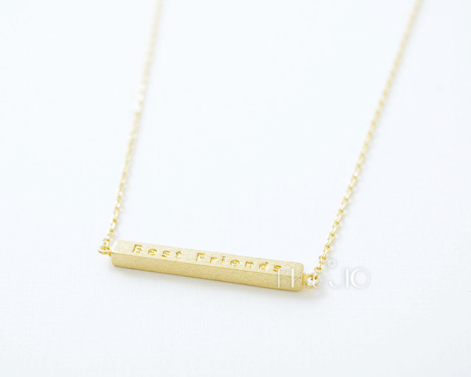 Square Bar Best Friends Necklace
