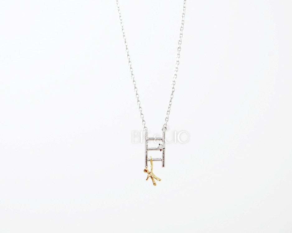 Climbing Man on Ladder Necklace