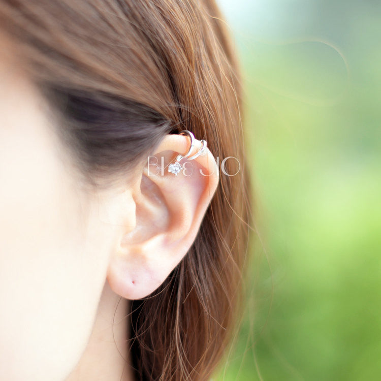 Single CZ Ear Cuff