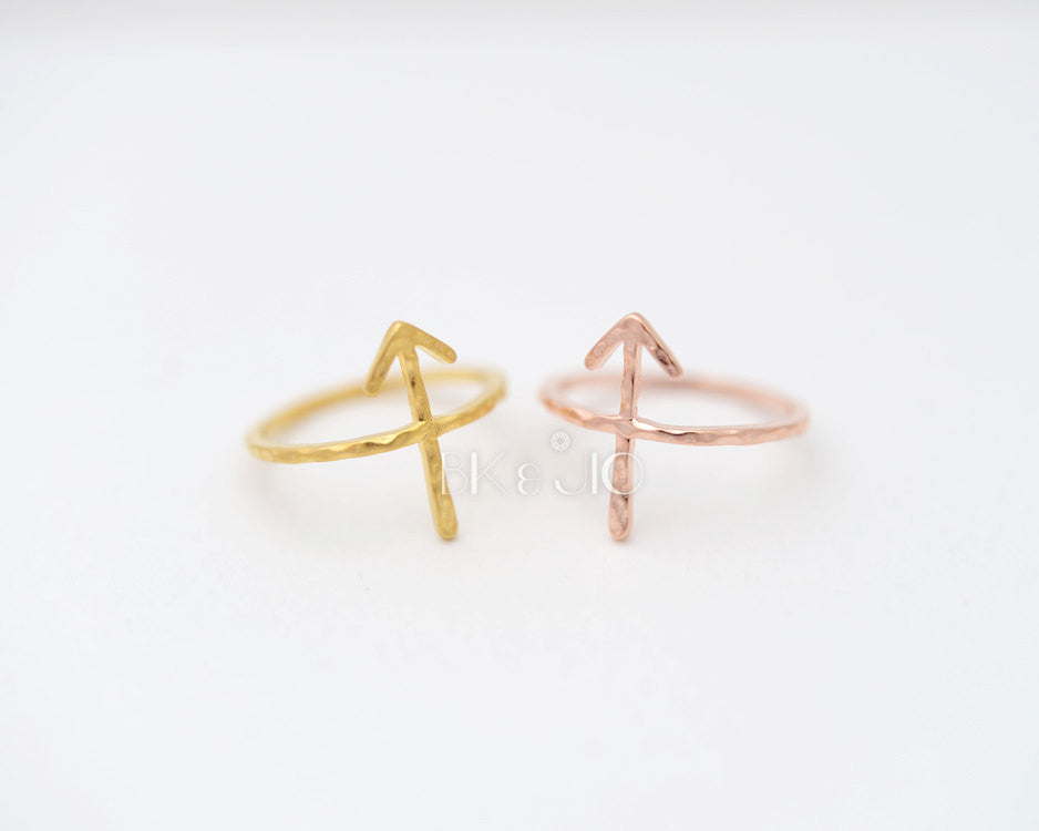 Hammered Arrow Ring