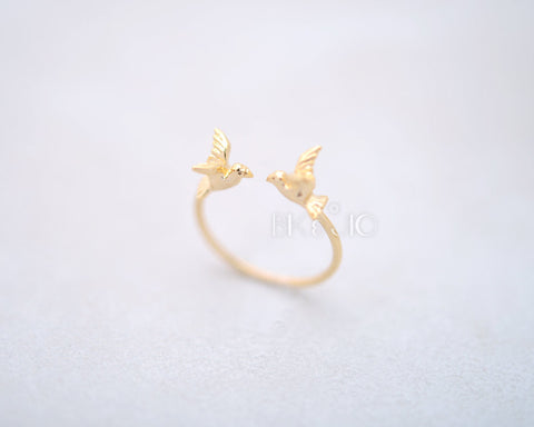 Twin Sparrows Ring