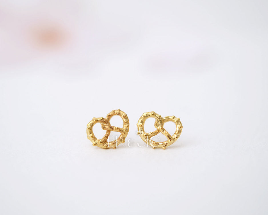 Tiny Pretzel Stud Earrings