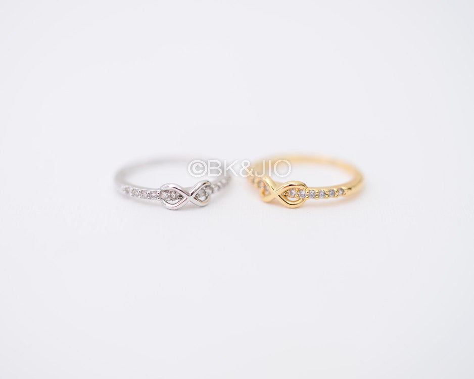 CZs Infinity Knuckle Ring