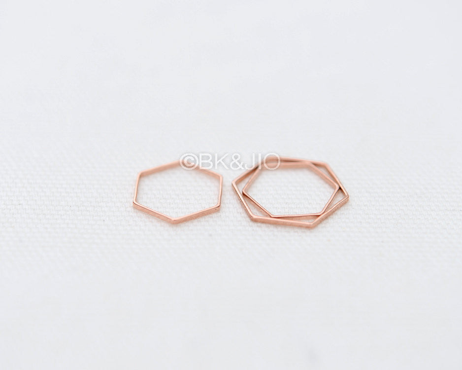 Flat Hexagon Knuckle Ring