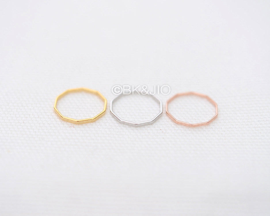 Flat Ten Angles Knuckle Ring