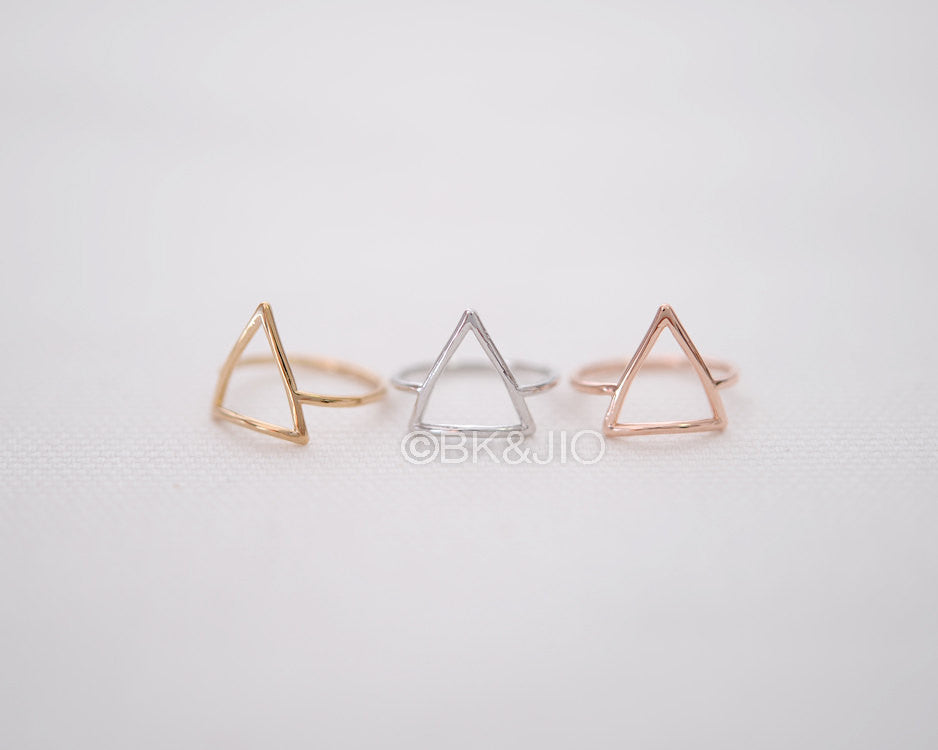 Open Triangle Knuckle Ring