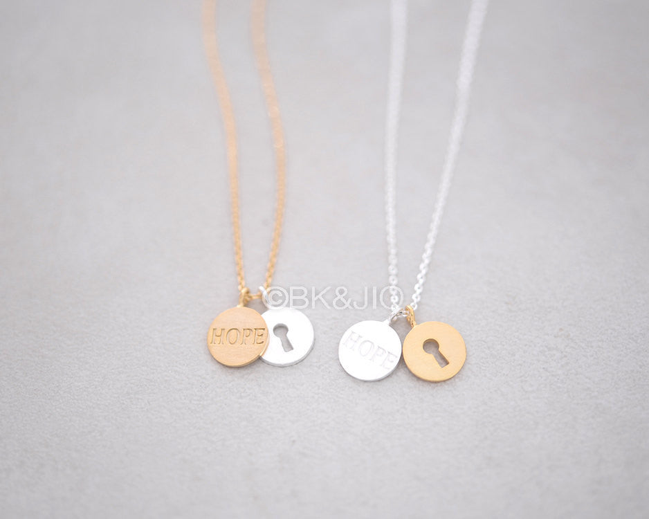 Hope and Keyhole Necklace