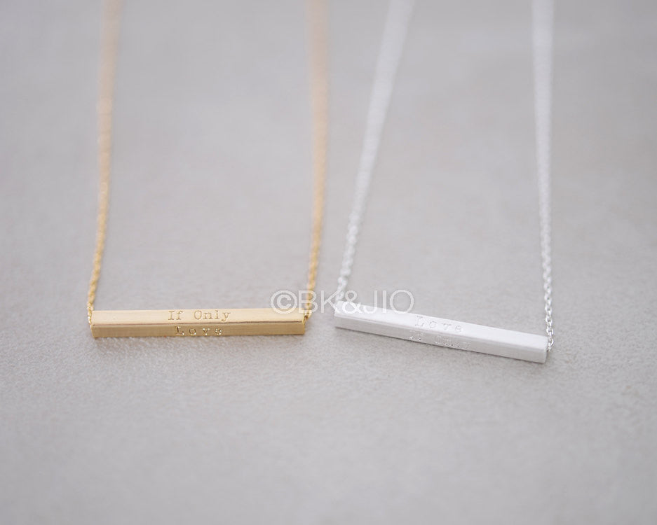 If only, Love Bar Necklace