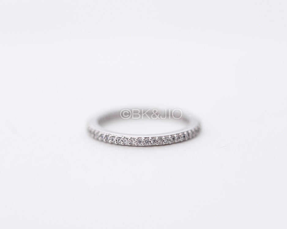 Single Diamante Band Ring