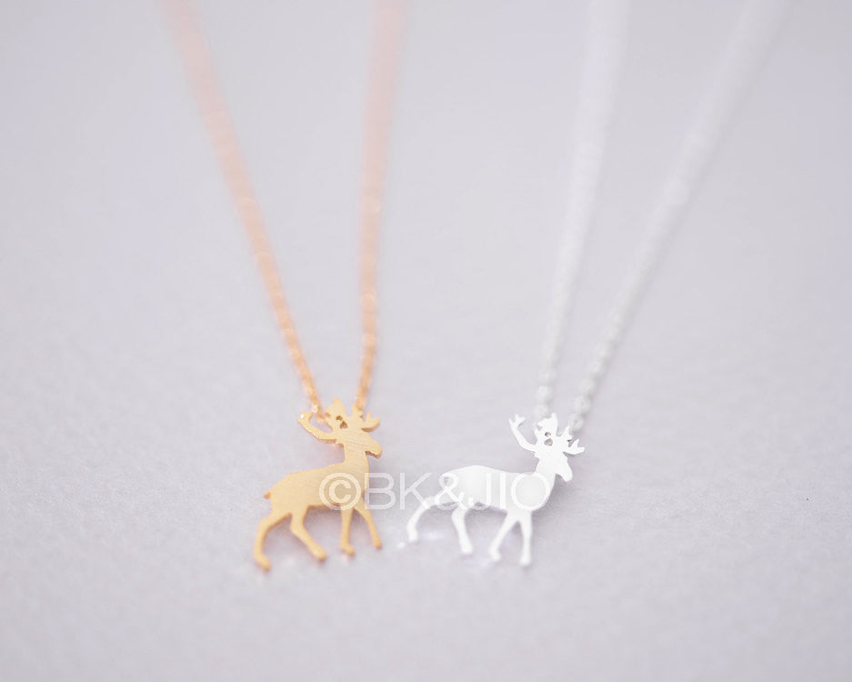 Antler Deer Necklace