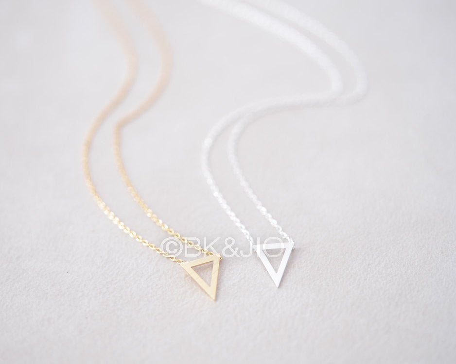 Tiny Inverted Triangle Necklace