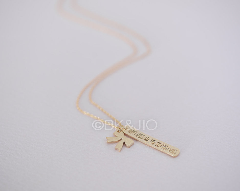 Happy Girls Are The Prettiest Girls Necklace