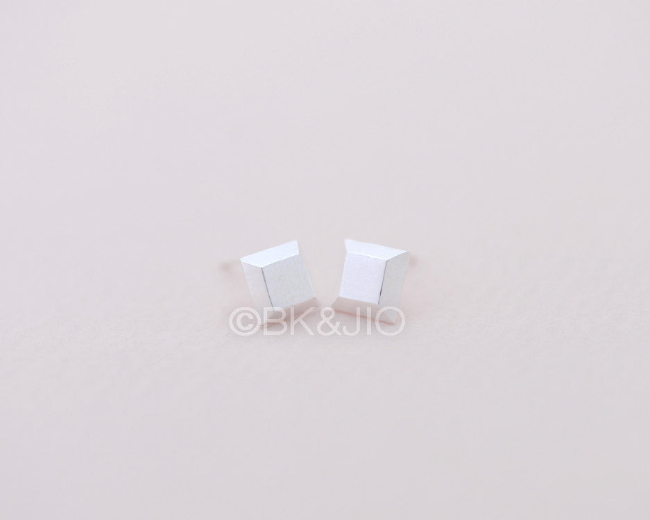 3D Square Stud Earrings
