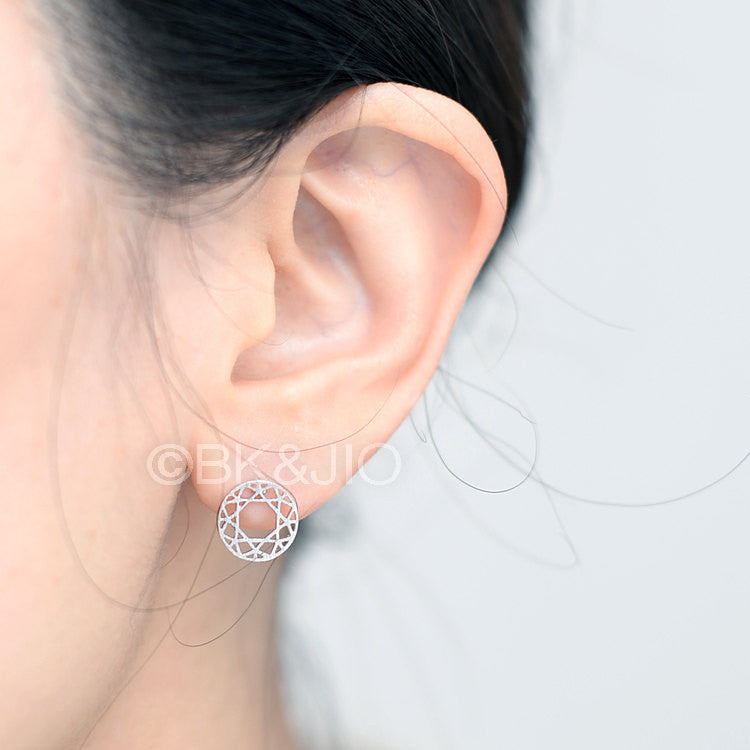 BK n JIO Signature Stud Earrings