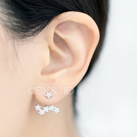 Sterling Silver Five Stared Swarovski Zirconia Ear Jacket
